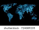 global network concept. world... | Shutterstock . vector #724089235