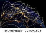 global network concept with... | Shutterstock . vector #724091575