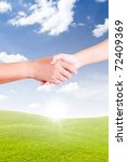 hand shaking for new day | Shutterstock . vector #72409369