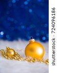 Golden Christmas Balls And...