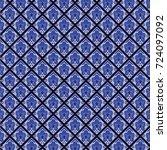orchid blue pattern | Shutterstock .eps vector #724097092