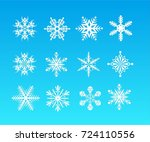 vector snowflakes set for... | Shutterstock .eps vector #724110556