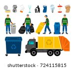 scavengery  trash and garbage... | Shutterstock .eps vector #724115815