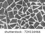 black and white vintage ceramic ... | Shutterstock . vector #724116466
