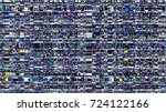 glitch background. computer... | Shutterstock .eps vector #724122166