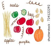 autumn perfection complete with ... | Shutterstock . vector #724122292
