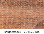 typical old red brick wall of a ... | Shutterstock . vector #724122436