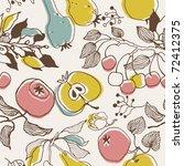 fruit garden. seamless pattern | Shutterstock .eps vector #72412375