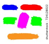set of hand painted colorful... | Shutterstock .eps vector #724128022