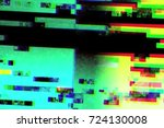 abstract realistic screen... | Shutterstock . vector #724130008