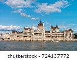 the hungarian parliament... | Shutterstock . vector #724137772
