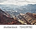 misty grand canyon | Shutterstock . vector #724139782
