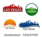 las vegas city skyline logo... | Shutterstock .eps vector #724147435