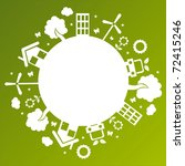 ecological planet over green... | Shutterstock .eps vector #72415246