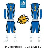 basketball jersey  shorts ... | Shutterstock .eps vector #724152652