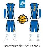 basketball jersey  shorts ... | Shutterstock .eps vector #724152652