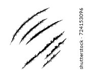 animal claws scratches  vector... | Shutterstock .eps vector #724153096