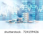 graph coins stock finance and... | Shutterstock . vector #724159426