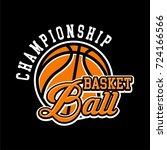 basketball badge logo yellow... | Shutterstock .eps vector #724166566