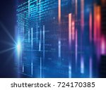 digital code number abstract... | Shutterstock . vector #724170385