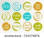 vector organic labels  bio... | Shutterstock .eps vector #724174876