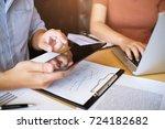 business people meeting design... | Shutterstock . vector #724182682