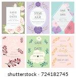 wedding invitation card...   Shutterstock .eps vector #724182745