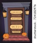 halloween night party...   Shutterstock .eps vector #724182976