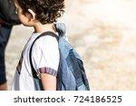 kids carry school bag  preschool | Shutterstock . vector #724186525