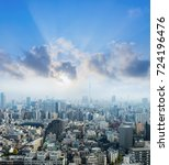 cityscape of tokyo city  japan. ... | Shutterstock . vector #724196476