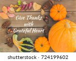 give thanks with grateful heart ... | Shutterstock . vector #724199602