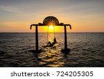 gili trawangan  indonesia  ... | Shutterstock . vector #724205305