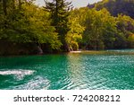 view at the plitvice   croatia   Shutterstock . vector #724208212