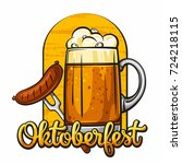 oktoberfest. vector... | Shutterstock .eps vector #724218115