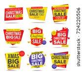 big xmas discount sale banner.... | Shutterstock . vector #724220506