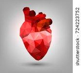polygonal human heart | Shutterstock .eps vector #724223752