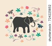 romantic hand drawn background... | Shutterstock .eps vector #724225852