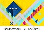 hipster modern geometric... | Shutterstock .eps vector #724226098