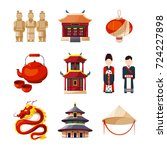 culture icons set. traditional... | Shutterstock .eps vector #724227898