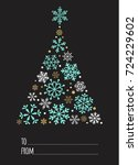 merry christmas and happy new... | Shutterstock .eps vector #724229602
