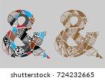 two ampersand vector symbol...   Shutterstock .eps vector #724232665
