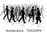 business crowd of people... | Shutterstock .eps vector #72423394