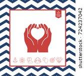 hands holding heart  ... | Shutterstock .eps vector #724237042