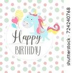 birthday party invitation   Shutterstock .eps vector #724240768
