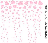 abstract love design of hearts. ... | Shutterstock .eps vector #724243102