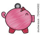 piggy money savings   Shutterstock .eps vector #724244302