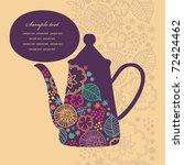 Cute Teatime Card. Vector...