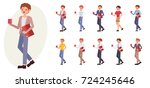 cartoon character design male... | Shutterstock .eps vector #724245646