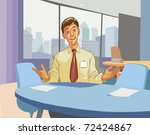 nice young business man talking ... | Shutterstock .eps vector #72424867