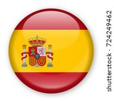 spain flag vector round icon  ... | Shutterstock .eps vector #724249462